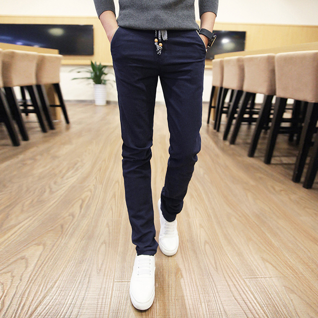 Hot sale  2017 new casual pants men summer pants straight cotton male pants brand Plus size 28-36