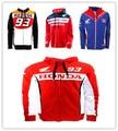 2017 New motorcycles motorcycle riding zipper hooded casual cotton fleece sport Hoodie Biker Jacket For Honda S-XXL