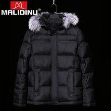 MALIDINU Brand New 2017 Winter Mans Thicken White Duck Down Jacket Coat Hood Parka European Size Free Shipping Fur Collar M1399