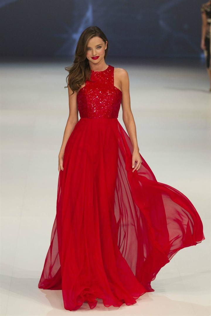 Miranda Kerr Celebrity Red Carpet Long Summer Dresses Runway 2014 ...