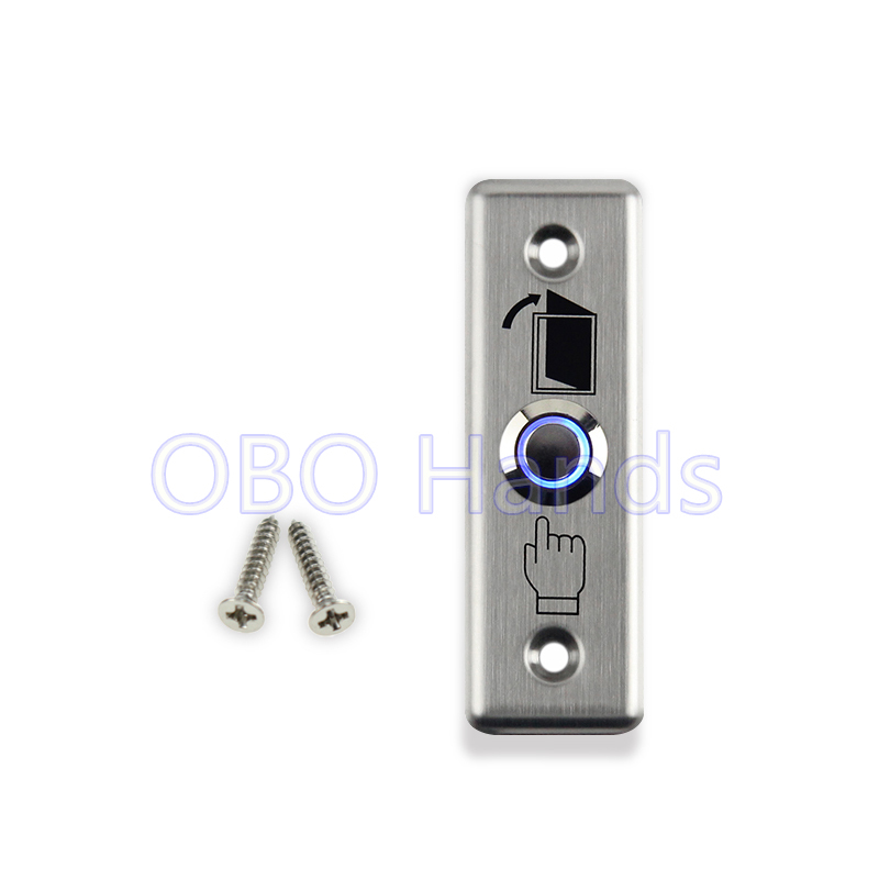 Free shipping high quality stainless steel door release door exit button with blue backlight LED for access control system-LG2 free shipping high quality stainless steel 4pcs side door streamer door protection bar for toyota highlander 2007 2011