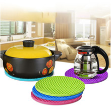(5 Pack) Extra Thick Silicone Trivet Mat Hot Pads Non-slip Insulation Mat For Home Use Silicone Pot Holder Heat Resistant Pads