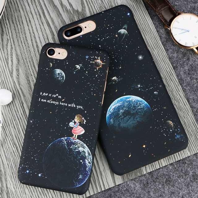 pretty nice e3cff 4149c US $1.99 |Top Selling Space Moons Phone Case For iPhone 6 Fashion Candy  Cartoon Astronaut frosted Back Cover For iphone 6 6S 7 7Plus Capa-in Fitted  ...