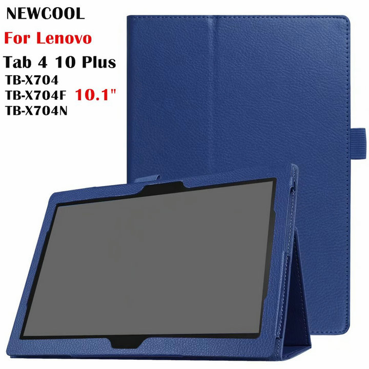 Case for Lenovo TAB4 10 Plus Litchi Leather Case Flip Cover for Lenovo TAB 4 10