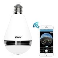 New Mini Lamp WIFI Camera 1080P HD Bulb Light Wireless IP Camera 360 Degree Panoramic FishEye