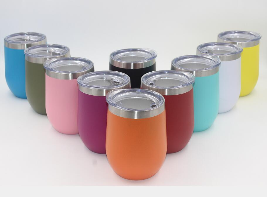 100pcs 9oz Wine Tumbler 9oz Egg Cups Wine Glasses Double Wall Stainless Steel Beer Vacuum Insulated