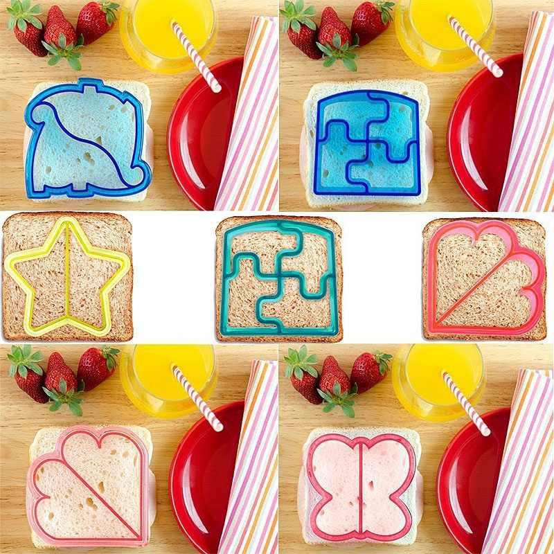Não mais chato almoço 10 formas diy sanduíche e pão crosta cortador moldes para crianças