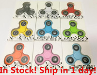 50pcs/lot Fidget Spinner Toy Plastic EDC Hand Finger Spinner For Autism and ADHD Rotation Time Long Anti Stress Toys DHL Lot