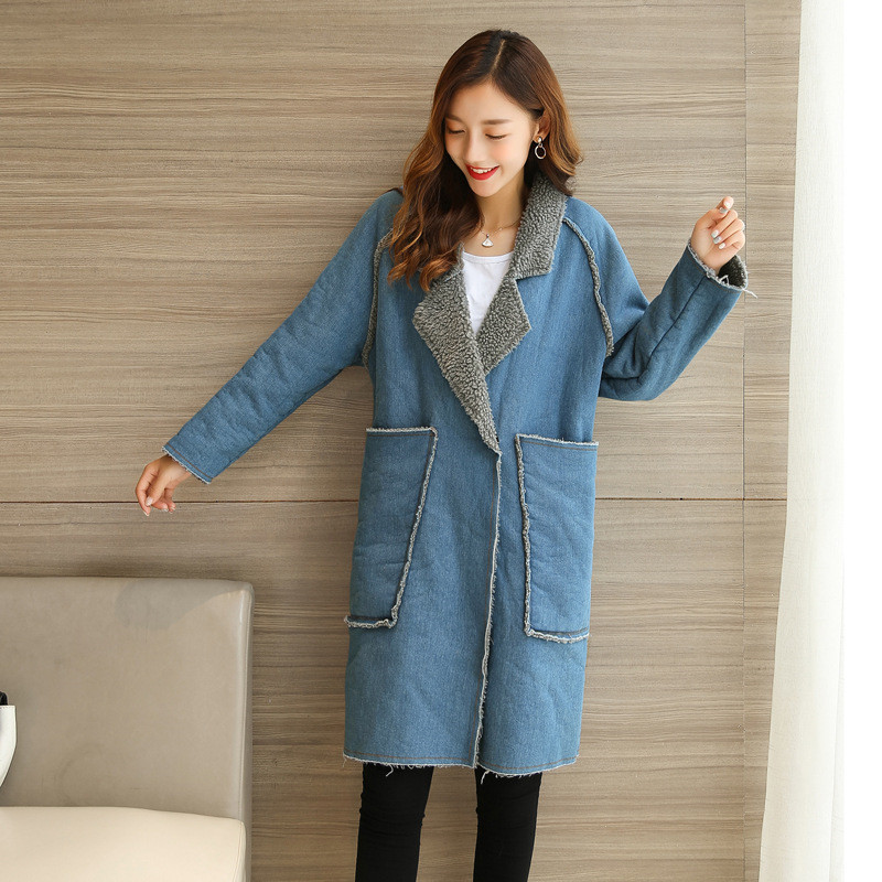2018 Maternity Clothes Demin Coats For Pregnant Women Winter Thicken Coats Autumn Tops Long Outerwear Coats Pregnancy Clothing недорого