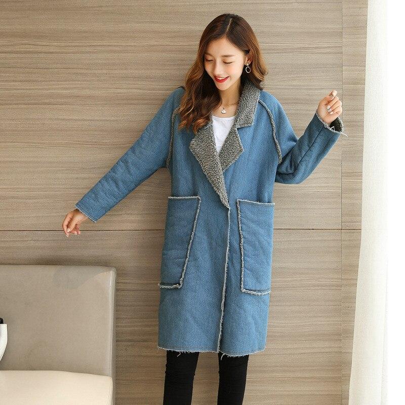 2019 vêtements de maternité Demin manteaux pour femmes enceintes hiver épaissir manteaux haut d'automne longs manteaux pour vêtements de dessus vêtements de grossesse