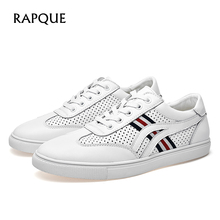 Herr fritidskor Skor läderkoder sneakers Designer Walking Office Drivande sko andas på fritidshus Polka dot 6091 RAPQUE