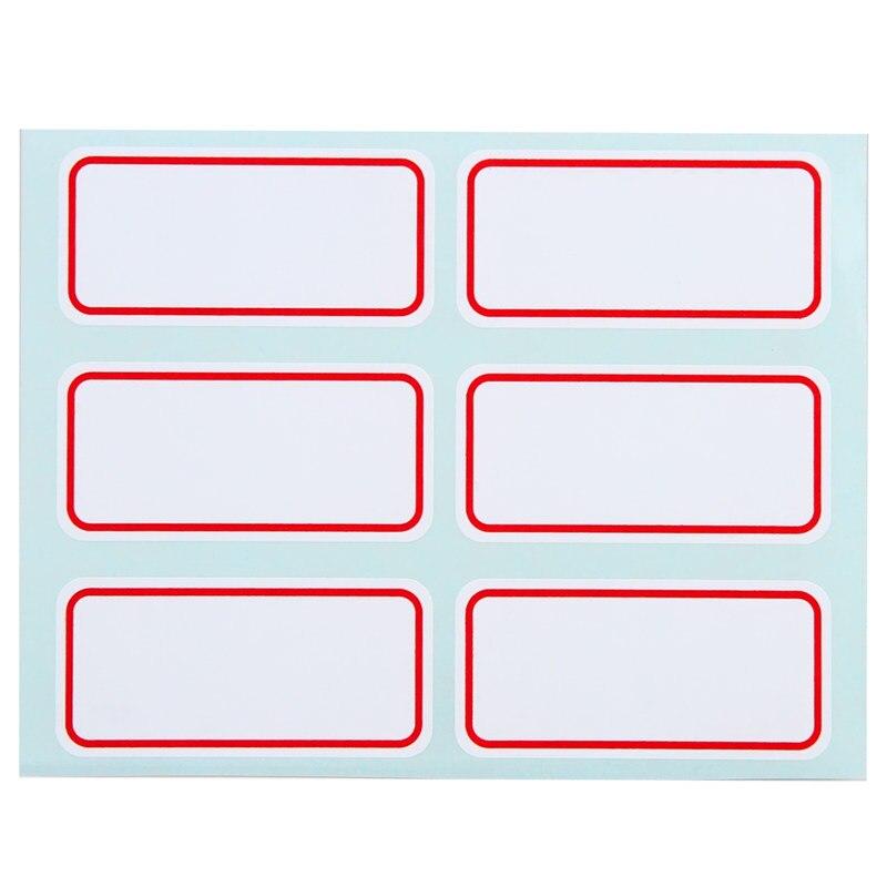 72 pz/pacco Bianco Auto Adesivo Adesivi Nome di Etichetta Adesivi Studente di Cancelleria Scuola di Forniture Per Ufficio 2.5*5.3 cm