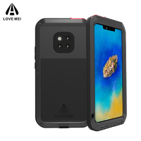 Lovemei Full Coverage Shockproof Doom Armor Case For Huawei Mate 20 Pro silicone Heavy Duty Protection Cover Case For Mate 20Pro