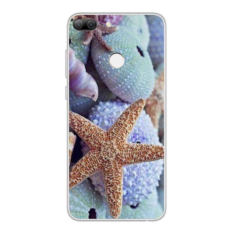 Ciciber Bãi Biển Mùa Hè Sao Biển Cover Dành Cho Huawei Honor 9 Lite 8 10 Pro Lite Note Chơi V10 8X 7A Điện Thoại trường hợp Coque Mềm TPU Capinha