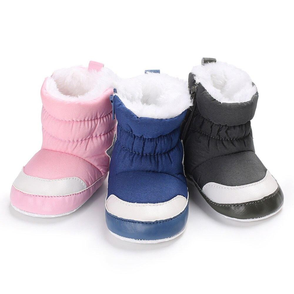 Newborn Baby Kid Boy Girl Christmas Crib Shoes Soft Warm Boots Anti-slip Sneaker
