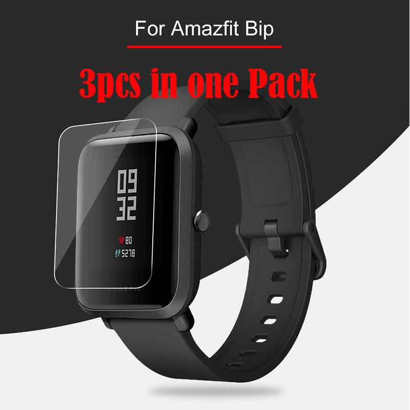 3Pcs For Xiaomi Huami Amazfit Bip Liquid Glass Screen Protector Soft Nami (Not Tempered Glass) Protective For Amazfit Bip