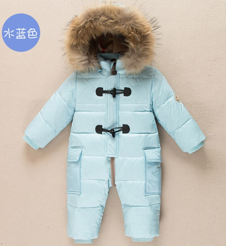 Infant down jacket boy winter romper open file female baby thick white duck down out to hold warm onesiesInfant down jacket boy winter romper open file female baby thick white duck down out to hold warm onesies