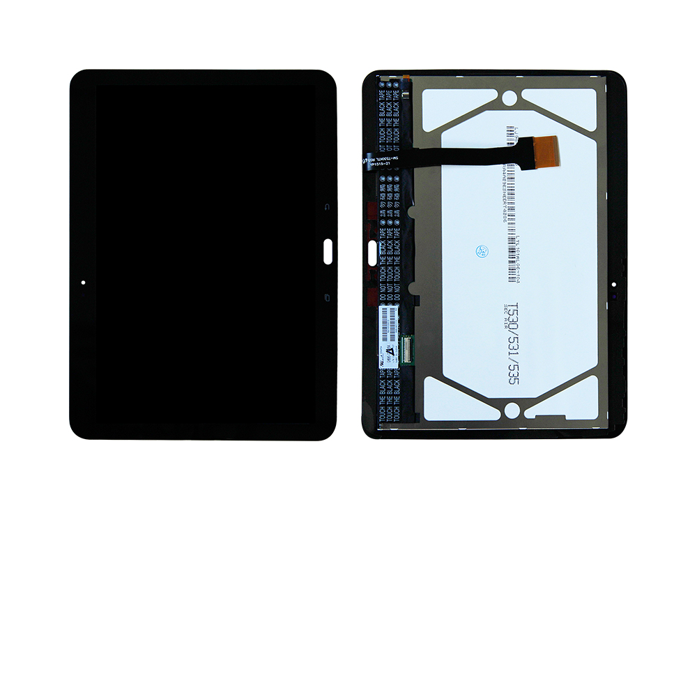 For Samsung Galaxy Tab 4 10.1 SM-T530 T531 T535 T530 Touch Screen Digitizer Glass Lcd Display Assembly with Frame Free Shipping free shipping touch screen with lcd display glass panel f501407vb f501407vd for china clone s5 i9600 sm g900f g900 smartphone