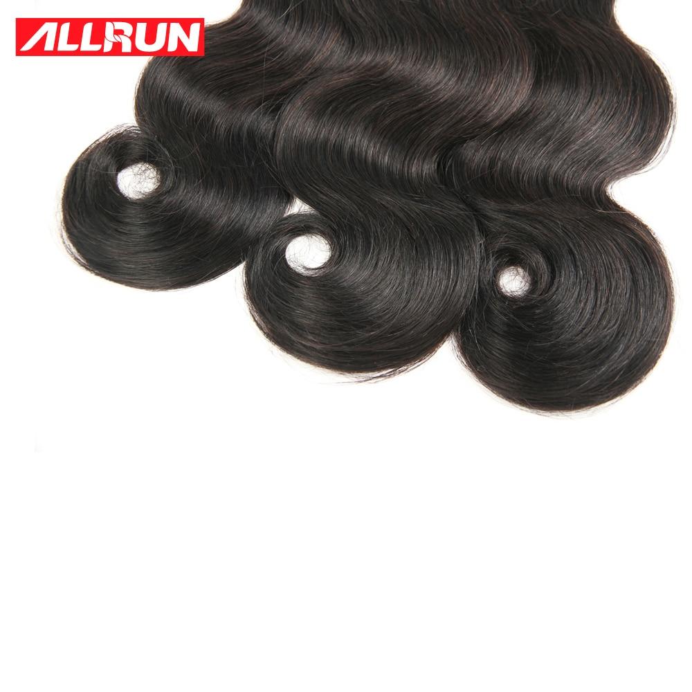 Allrun Hair Brazilian Body Wave Hair 3 Pcs Human Hair Bundles Non Remy Hair Extention Natural Color 10-24 inch