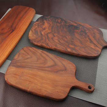 1 Pcs Black walnut wood cutting board kitchen chopping board 3 size pizza disks real wood without glue stock plate 1