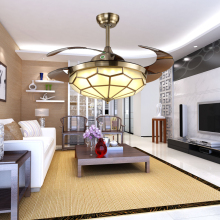 220V Ceiling Fan Lights High Power Remote Control 3 Colors Lamp 36W Indoor Decor Living Room Tricolor Light