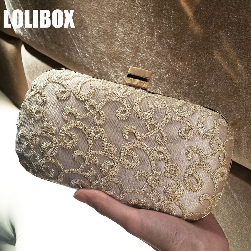 Clutches Women Crossbody Bags For Women Embroidery Lace Ladies Clutch Evening Bags Chain Purse Bride Wedding Party Day Clutches women colorful handbags crystal beaded day clutches ladies chain evening bags messenger bags clutch pouch purse wallets for lady