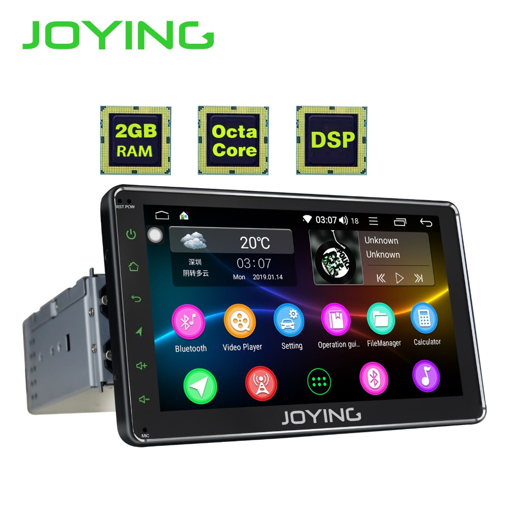 JOYING 1 DIN 7 ''écran tactile Android 8.1 autoradio unité principale stéréo gps navi magnétophone 2 GB RAM Octa Core lecteur multimédia