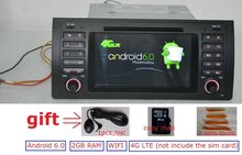 7 pulgadas Android 6.0 para bmw E39, X5, M5 E53 coche dvd, gps, wifi, 4G lte, radio, RDS, canbus, 2 GB de RAM, quad core, 1024×600, soporte dvr, rusia