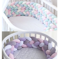 Thick Woollen Cotton Thread Handmade Knitting Baby Bed Crib Bumpers Cover Material Macaron Color DIY Blanket Supplies Home Decor