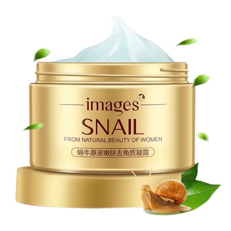 Q pcs Caracoles Marca de Cuidado de La Piel Exfoliante Facial Crema Hidratante c
