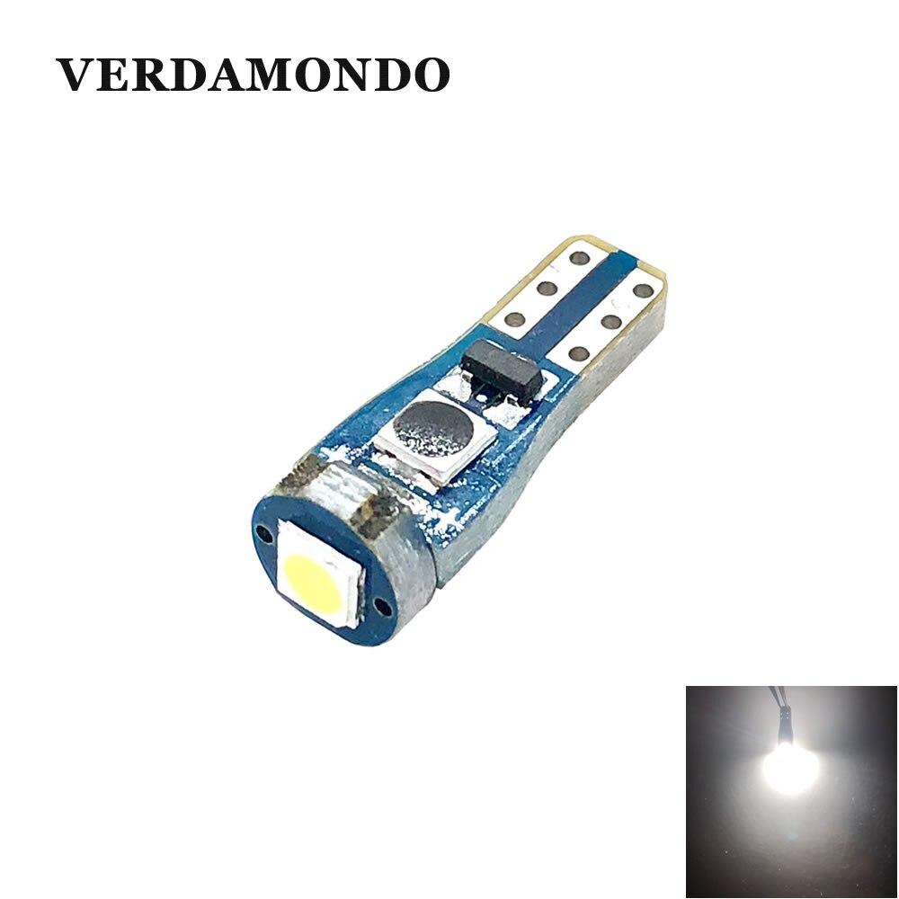 T5 58 74 286 W1.2W Super Bright Signal Lamp Reading Lights 3030 12V 24V Car Led Chip 1 SMD Warning Indicator Instrument Cluster
