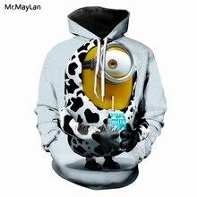 Harajuku Cartoon Cute Minions Drinkjing Milk 3D Print Tracksuits Men/Women Hiphop Streetwear Hoodies Boys Kawaii Jacket Clothes