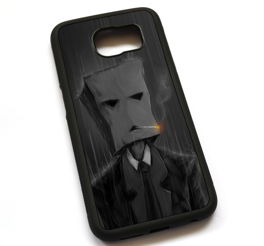 Smoking with a paper bag in the rain Case Cover, Case For