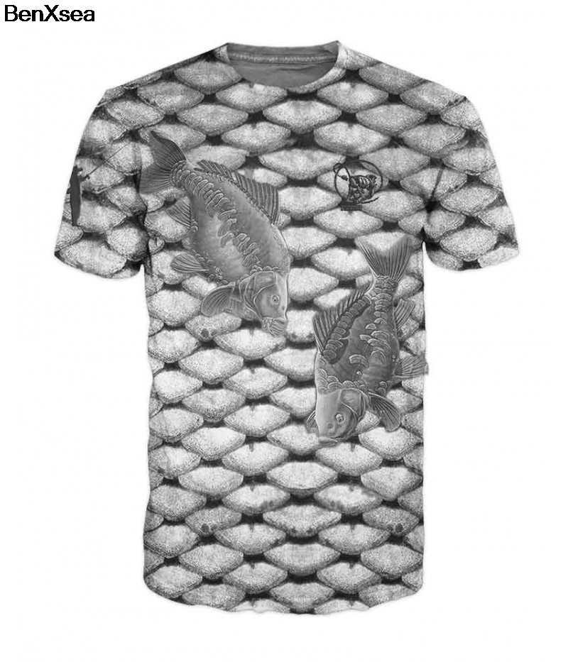 2018 Мода Много Стиль 3D печатных тройник крутые мужские 3D рыбы футболка хобби Карп футболка негабаритных хип хоп