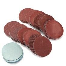 """100 peças 3 """"Polegada 75mm lixa de lixa, disco de lixa lixa para polimento P80 P3000 almofada"""
