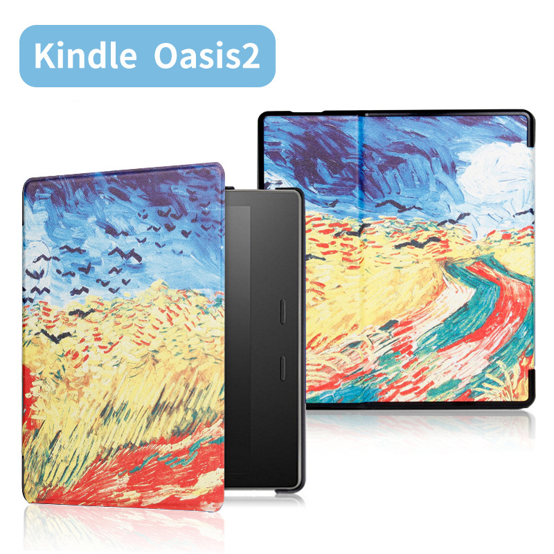 Magnetic Painted Cover Case fit 7 Kindle Oasis 2017 9th Generation eReader for Kindle Oasis 2