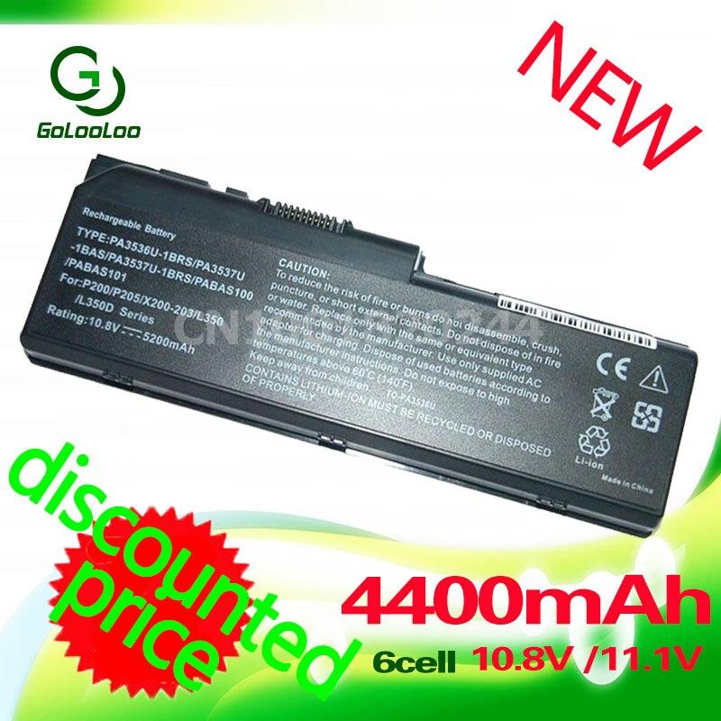 Golooloo Batterie pour toshiba Equium L350D P200 Satellite Pro L350 L355 L350D L355D P200 P200D P205 P205D P300 P300D PA3536U-1BRS
