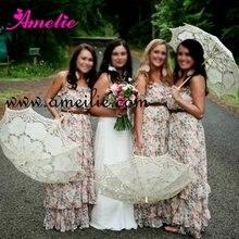 Винтаж кружева свадебные зонтики ассорти цветов