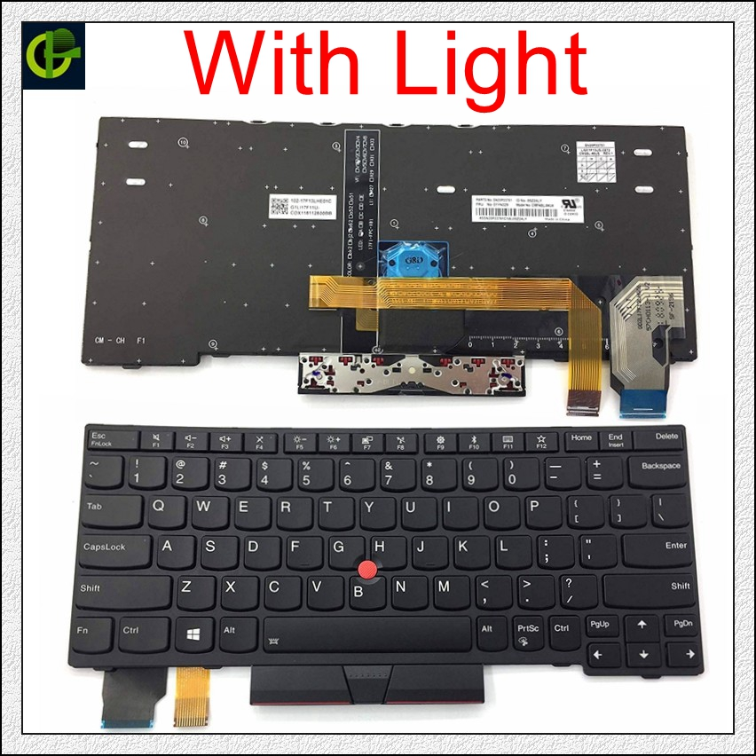 English Backlit Keyboard For Lenovo Thinkpad X280 X390 A285 X395 ThinkPad L13 Yoga S2 5th 20KF 20KE US