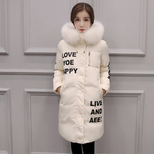 Female Warm Winter Jacket Women Coat Thick Brand Down Parka Pink Fur Collar Down Jacket Long Elegant Wide Waisted Hooded Outwear