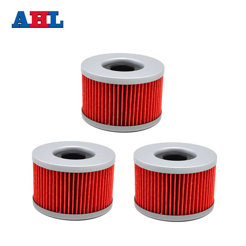 3pcs motorcycle parts Oil Filter for HONDA VT250 <font><b>250</b></font> VT <font><b>250</b></font> CB250 RSD CB250 RSA 1983-1987 <font><b>111</b></font> image