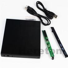 Hard Plastic Slim ABS USB 2 0 12 7mm IDE PATA to SATA DVD ROM External
