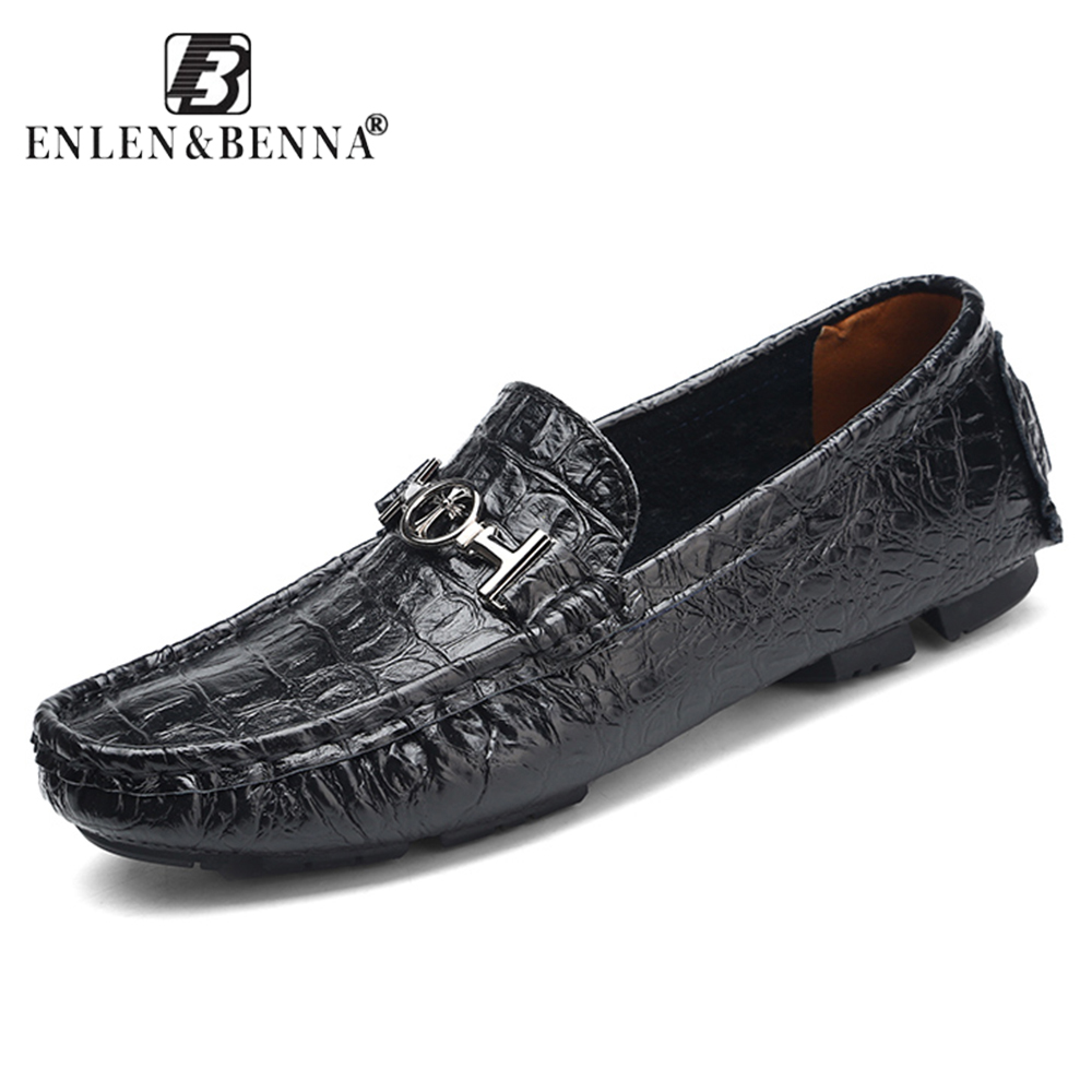 Men's Casual Shoes Slip-On Spring and Autumn Leather Fashion Loafers Comfortable and Breathable Zapatos Chaussure Hombre Sapato