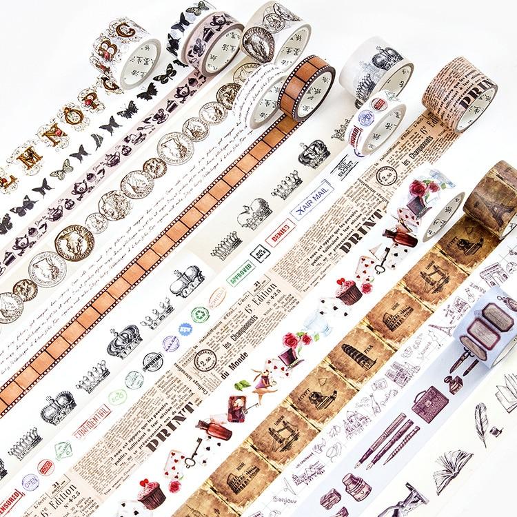 The Retro Memories Washi Tape Adhesive Tape DIY Scrapbooking Sticker Label Masking Tape retro washi tape vintage manuscript divine comedy diy decorative scrapbooking masking tape adhesive washi tape set label sticker