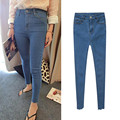 2017 women trousers Slim Vintage Denim Blue Jeans Casual Stretch Skinny Female High Waist Elastic Pants