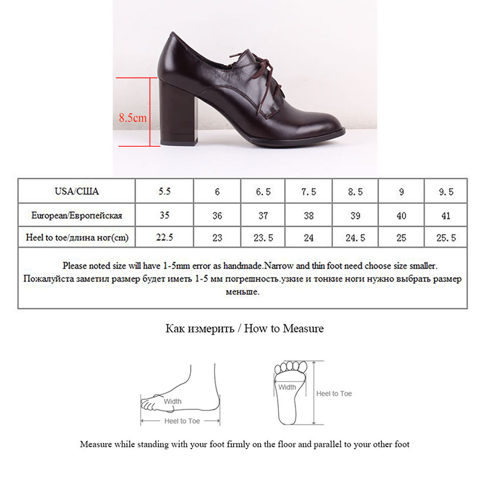Bacia 2017 Autumn New Women Pumps High heelS Office Shoe Cow Leather female Shoes ladies Genuine Leather Shoes Size 36-40 SB039
