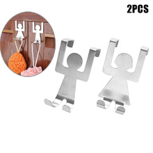 2pcs Kitchen Bathroom Hooks Wall Hanger No Trace Without Nails For Towel Robe E2s China