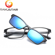 TIIYUSTAR  Man's Polarized Sunglass Clip On Driving Night Vision Lens Anti-UVA Anti-UVB Driving sun glasses 9104 стоимость