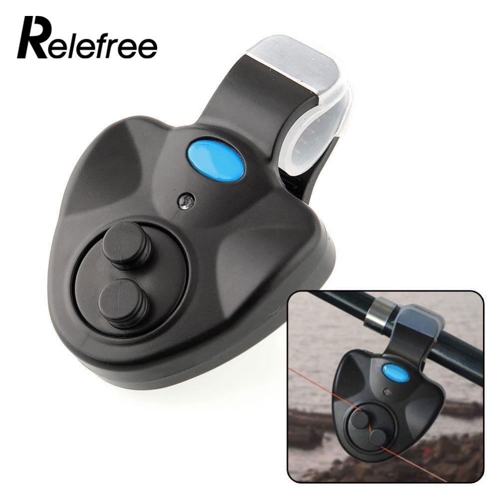 Relefree Black small Electronic Wireless ABS Fish Bite Alarm Sound Running LED Light Sensitive Drop Shipping