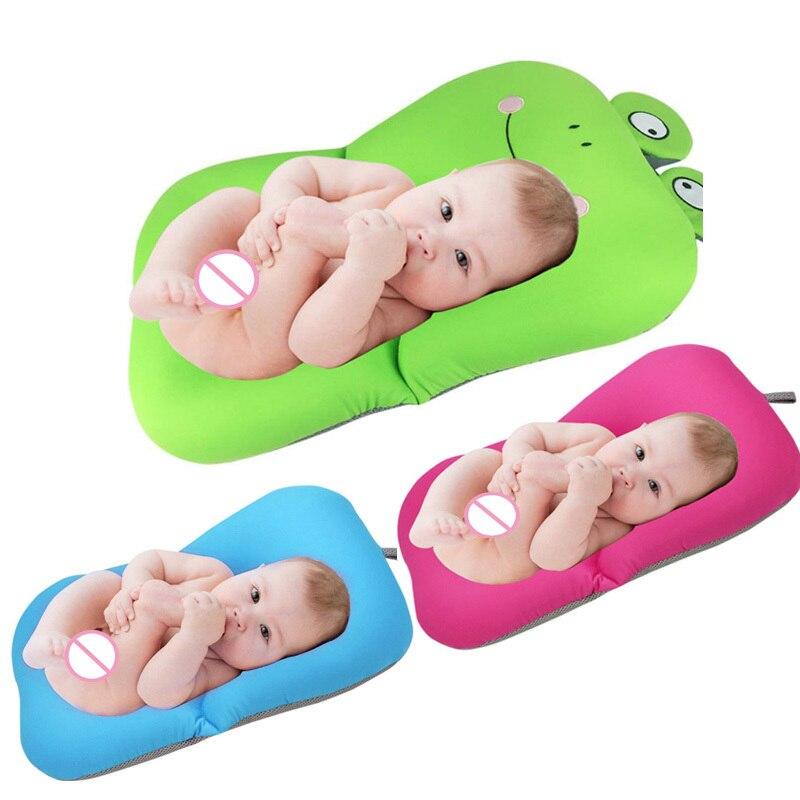 Babies Foldable Newborn Baby Child Bath Tub Pad Chair Shelf Kids Bathtub Seat Infant Cushion Mat Bath Mat Bebek Shower Almofada